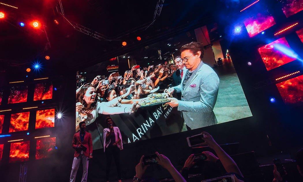 Avengers: Infinity War Cast Lights up Singapore