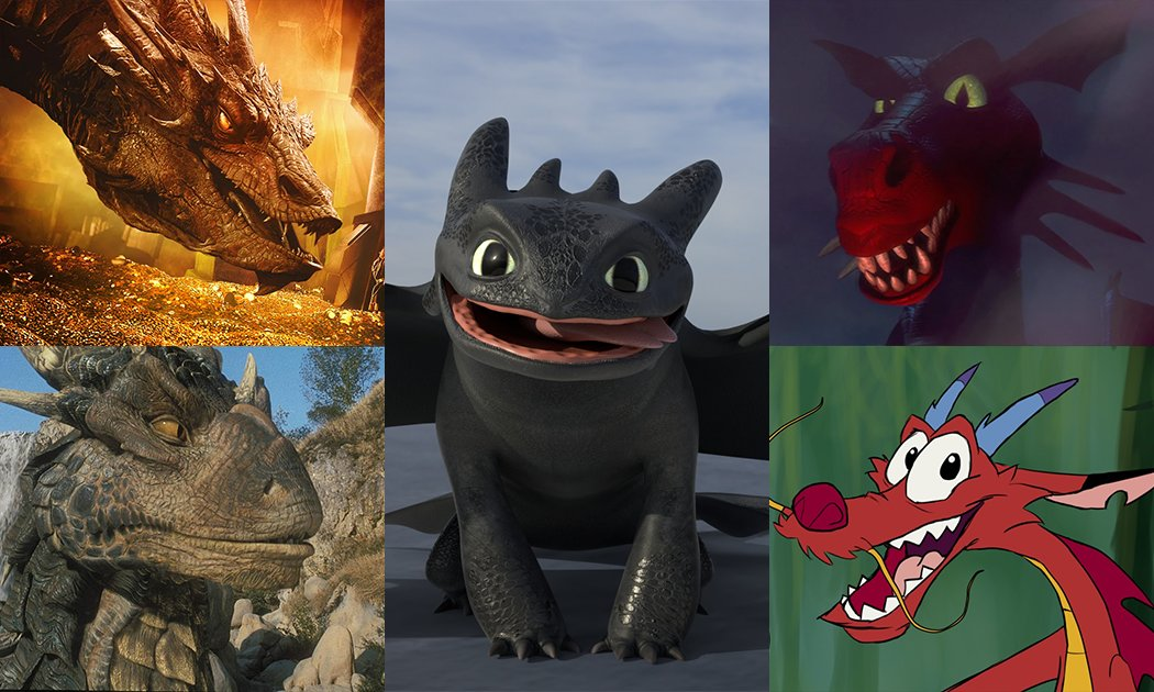 Toothless and Our Five Other Favourite Movie Dragons