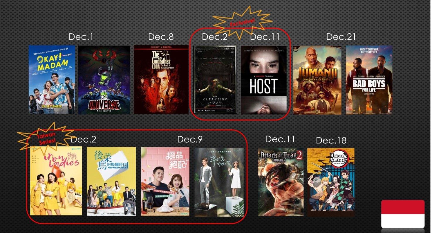 Jadwal lengkap tayang CATCHPLAY+ di Desember