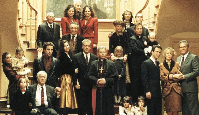 Keluarga besar Michael Corleone dalam The Godfather